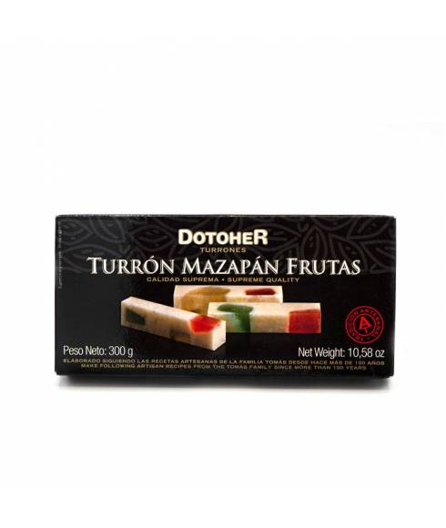 Marzipan nougat with fruits