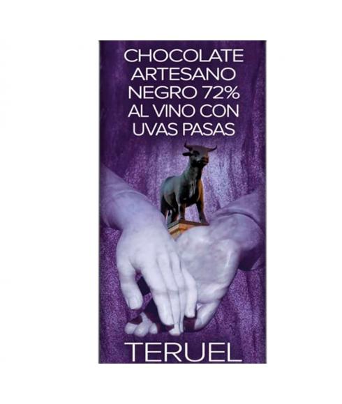 Chocolate Negro 72% con Vino y Pasas