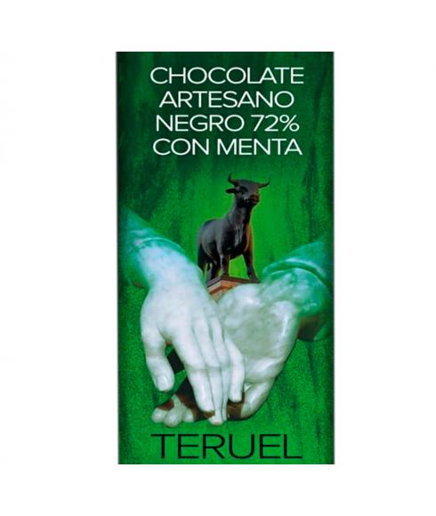 Cioccolato Fondente Artigianale 72% con Menta