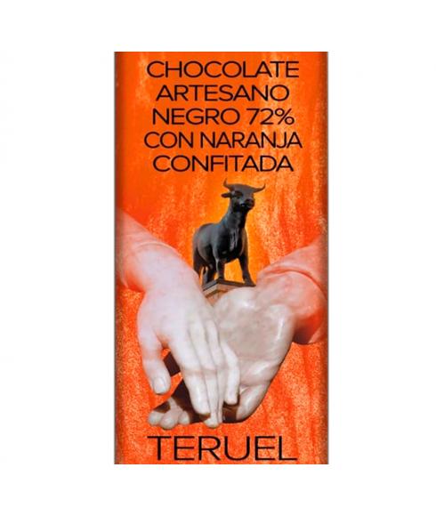 Cioccolato Fondente Artigianale 72% con Arancia Candita