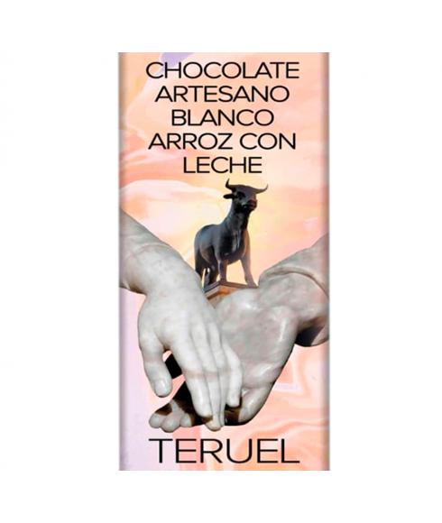Chocolate Artesano Blanco con Arroz con Leche