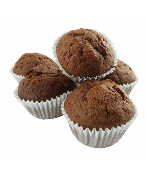 Magdalenas con chocolate sin gluten