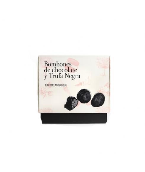 Bombones con trufa negra