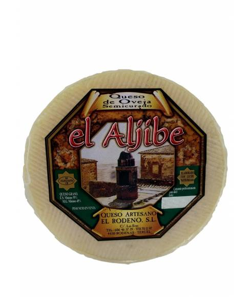 Semi-cured cheese from the Aljibe