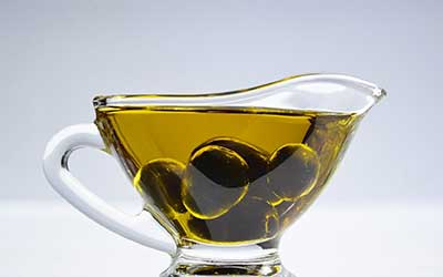 oil category, you see a glass jar with oil and olives