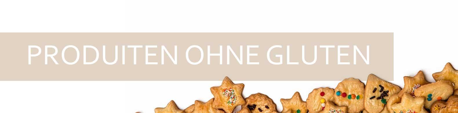 Banner glutenfreie Produkte sehen Beine mit Herz- und Sternformen aus.