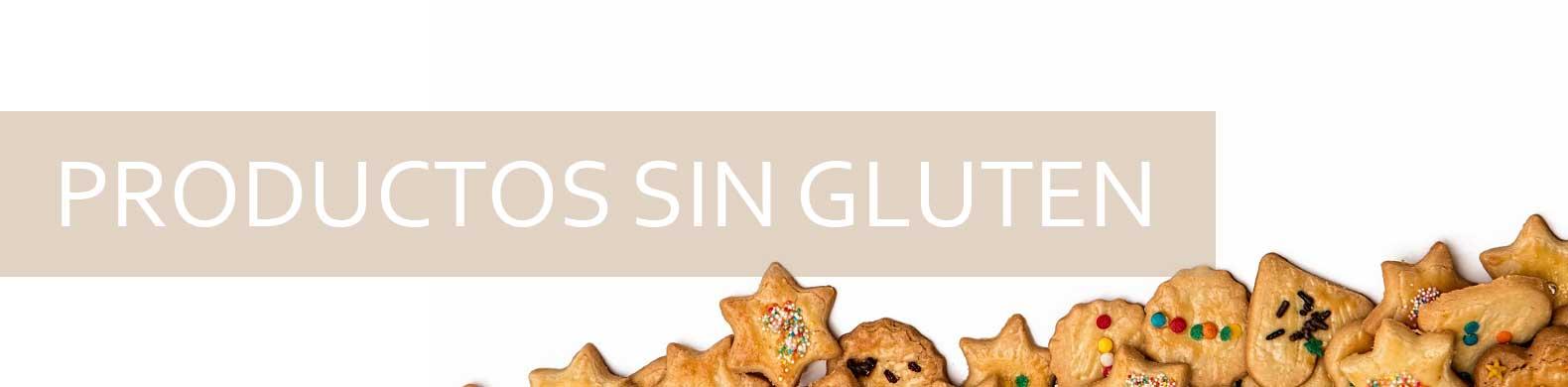 banner productos sin gluten se ven patas con formas de corazón y estrella.
