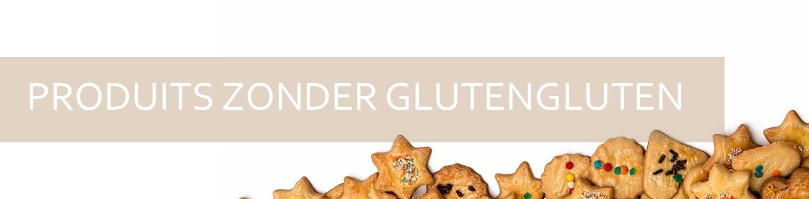 banner glutenvrije producten look poten met hart- en stervormen.
